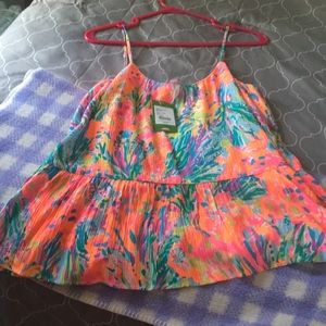 NWT Lilly Pulitzer Abena top sz Small